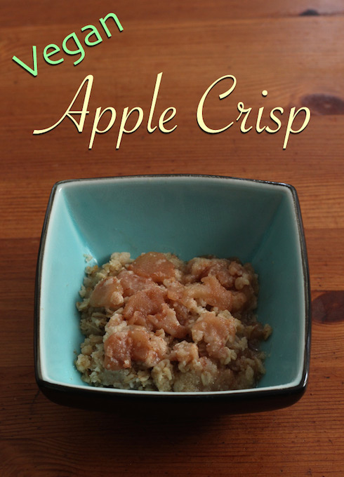 Butter-free #vegan apple crisp recipe