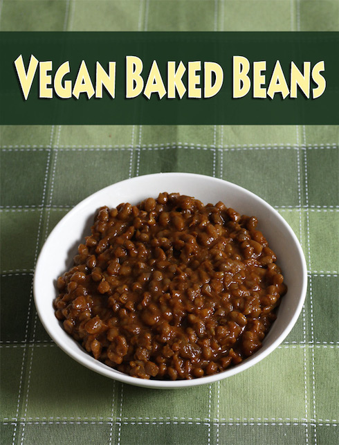 Slowcooker vegan baked beans with maple syrup