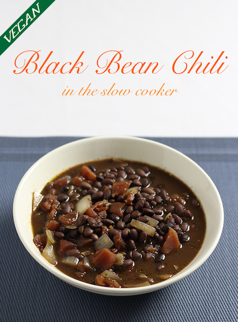 It takes a little more planning, but using dry black beans in the slowcooker will give you a really tasty vegan chili