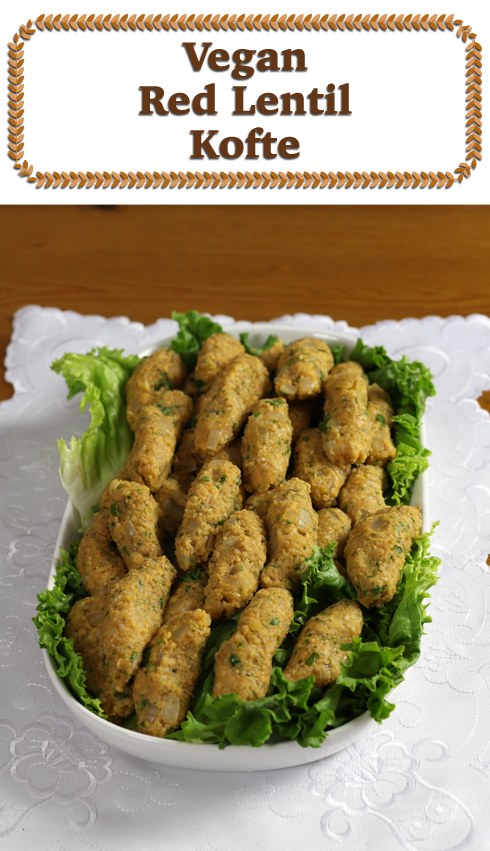 Little vegan Turkish lentil balls.  Great in a sandwich on rye toast with lettuce.