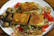 Crispy Pan-Fried Tofu with Veggies