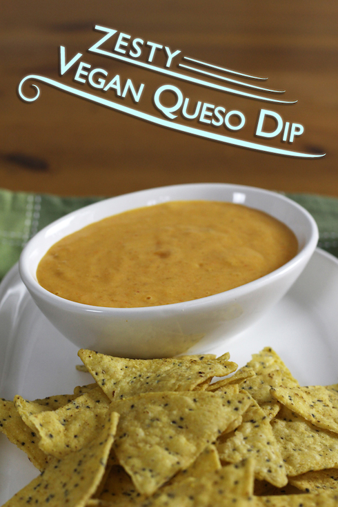 This #vegan queso dip has a zesty flavour that surprised me a bit