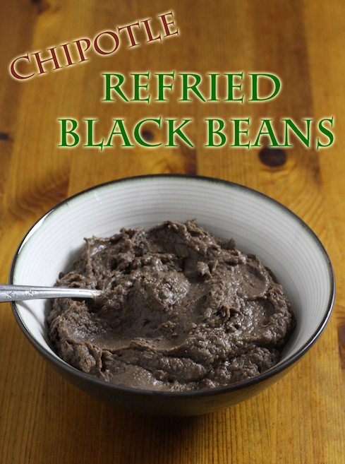 Making Spicy Chipotle Flavoured Black Beans in a Slowcooker