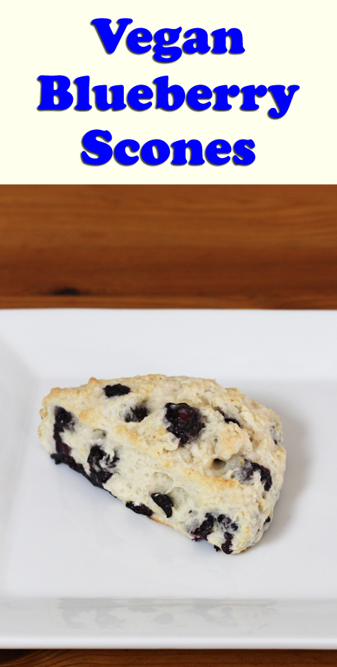 A simple recipe for vegan blueberry scones using coconut milk